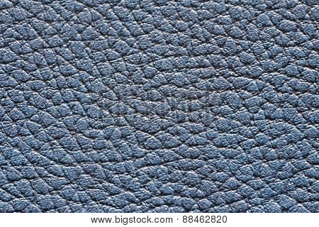 Texture Friable Leather Of Dark Blue Color