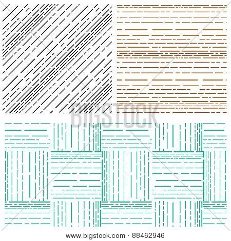 Abstract arrange various line pattern