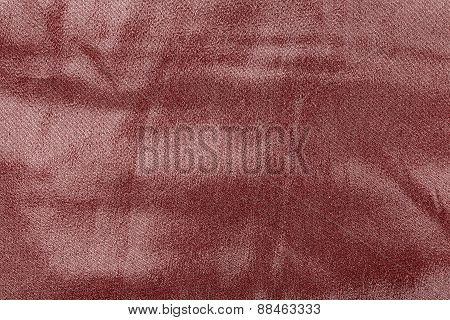 Abstract Texture Fabric Of Dark Red Color