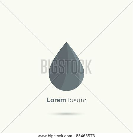 Black  drop abstract vector