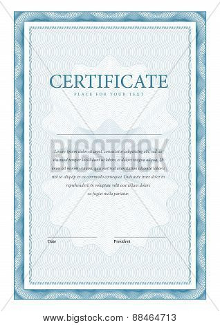 Certificate. Vector Pattern That Is Used In Currency And Diplomas