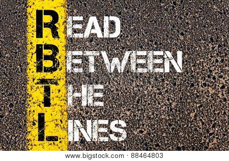 Business Acronym Rbtl As Read Between The Lines