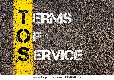 Business Acronym Tos As Terms Of Service