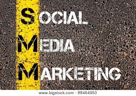 Social Media Acronym Smm As Social Media Marketing