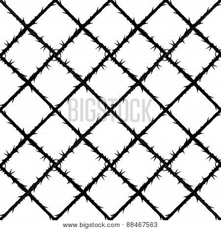 thorn wire mesh pattern
