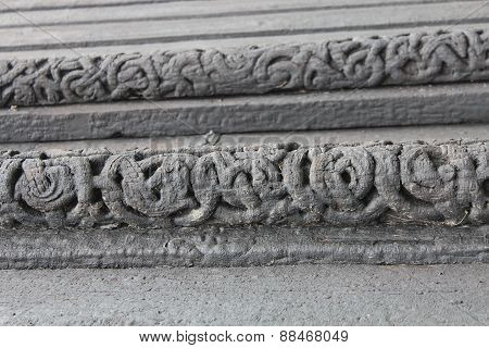 Details of Church in Lom, Norway was build more than 800 years ago.