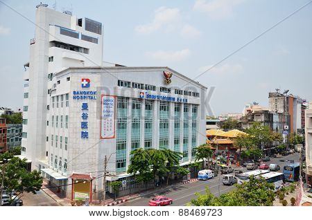Exterior View Of Bangkok Hospital In Chinatown, Bangkok