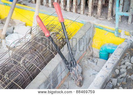 Iron Scissors In Construction