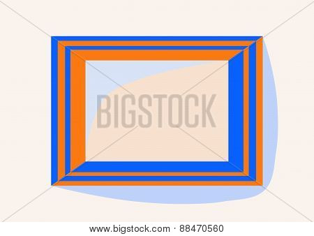 Simple orange - blue frame with internal dimension A4