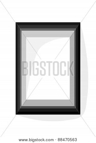 Gray simple geometric frame with internal dimension A4 vertically