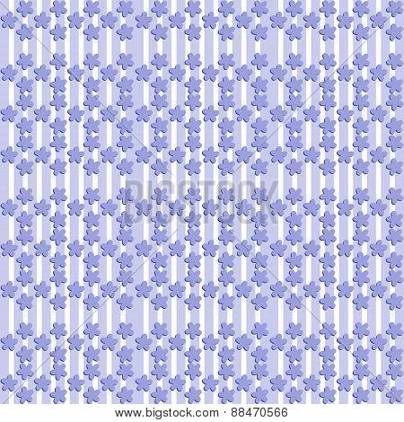 Bluish pattern with flax flower shape