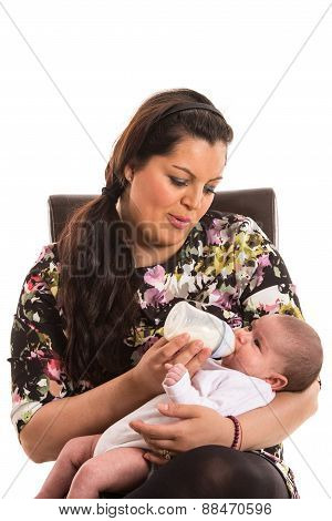 Mother Feed Newborn Baby