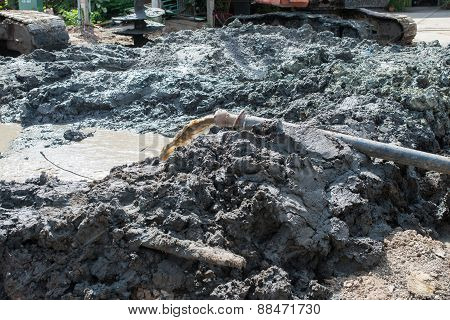 Water Pipe, Construction Site