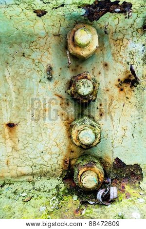 iron with rust traces, symbol of decay, damage, transience