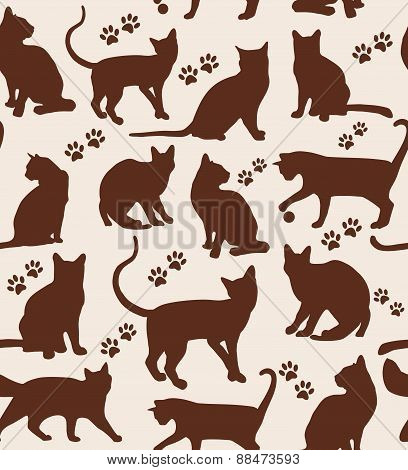 Seamless Pattern Of Animals