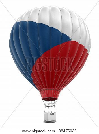 Hot Air Balloon with Czech Flag (clipping path included)