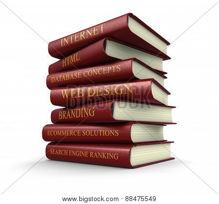 Web design related books (clipping path included)