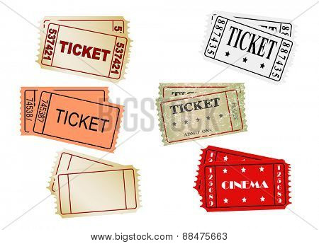 set of vector  tickets, vector, eps 10