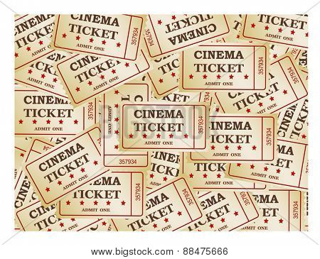 Cinema tickets -background, vector ,eps 10 clipping mask