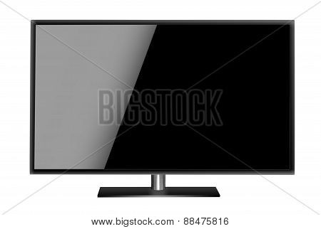 Modern blank flat screen TV set.