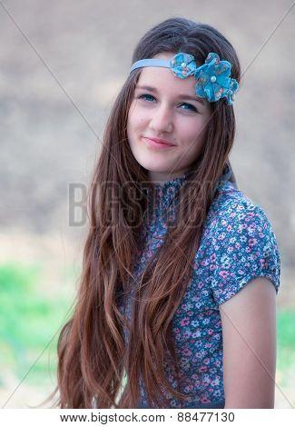 Teenage Girl Outdoor Portrait