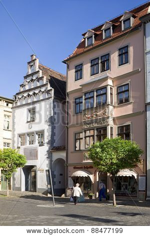 The Ancient Houses In The Old Town Of Naumburg; Saxony-anhalt, Germany