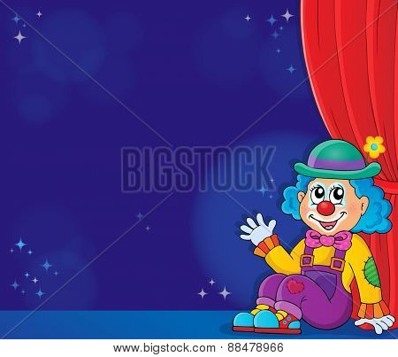 Sitting clown theme image 5 - eps10 vector illustration.
