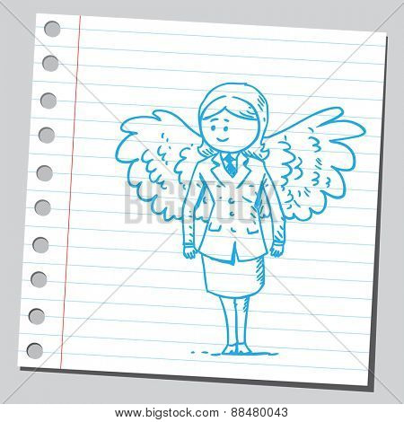 Businesswoman with wings