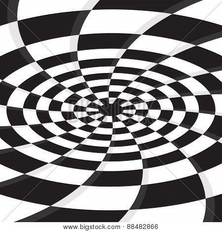black hole on checkerboard