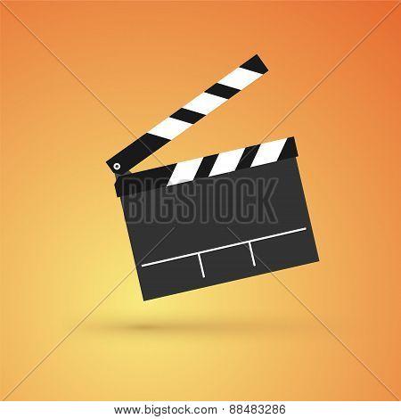 Film Flap On An Orange Background