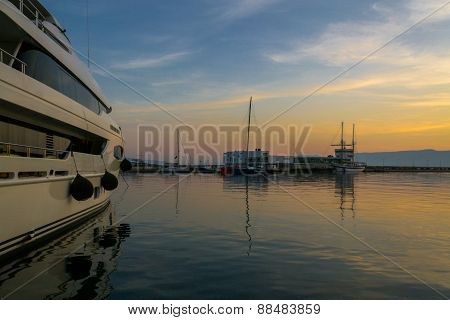 Sunset by The Yacht