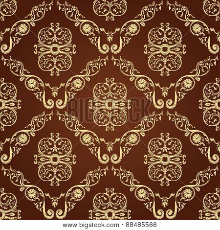 Seamless vintage decor wallpaper. Ornament background