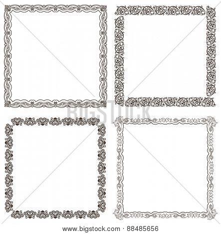 frames set. Ornate and vintage design elements