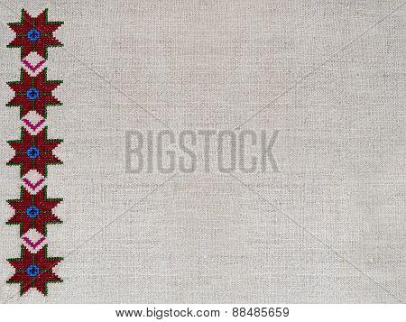 Embroidery ornament figure hemp canvas star