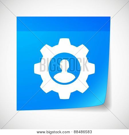 Sticky Note Icon With A Gear