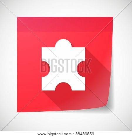 Sticky Note Icon With A Puzzle Piece