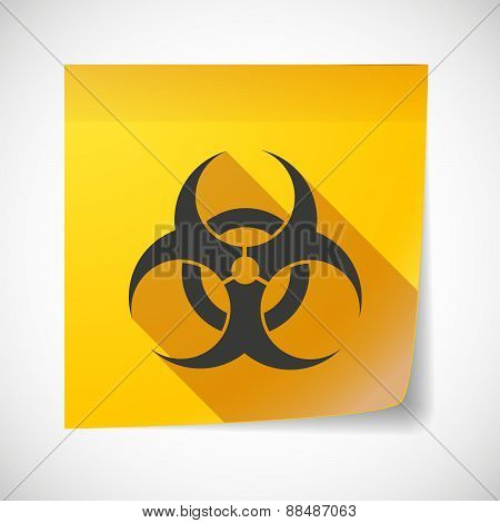 Sticky Note Icon With A Biohazard Sign