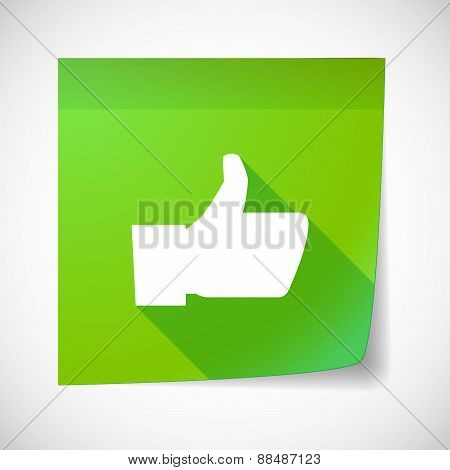Sticky Note Icon With A Thumb Up Hand