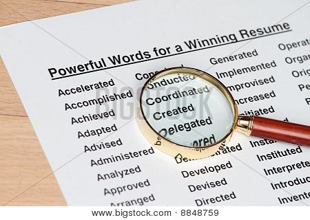 Powerful Words For Winning A Resume