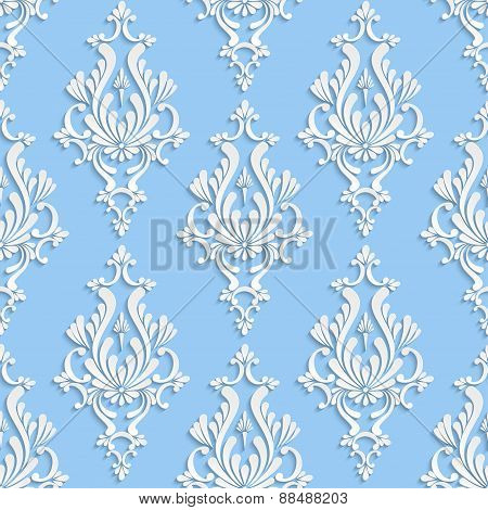Vector Floral Damask Seamless Pattern
