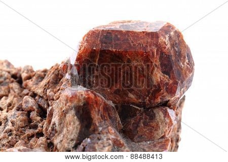 Brown Garnet Mineral Isolated