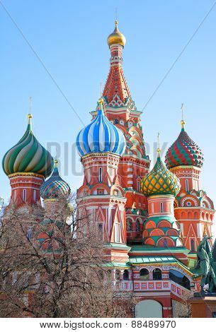 St. Basil cathedral on Red Square in Moscow
