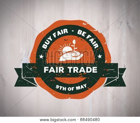 Digitally generated Fair Trade day vector
