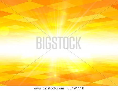 Orange sky checkered background. Vector illustration.