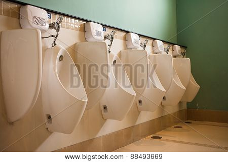The large Public toilet / Urinals.