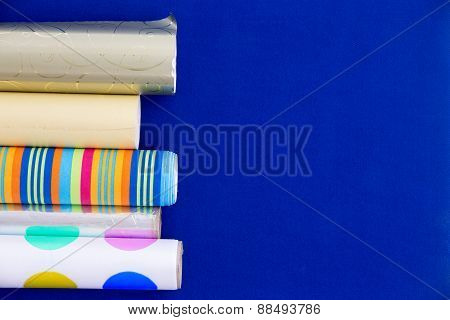 Colorful Rolls Of Wrapping Paper
