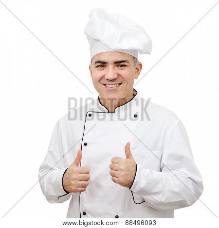 Chef On White Background