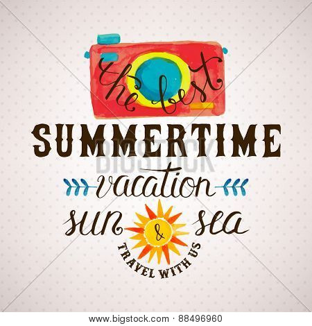 Summertime fun lettering