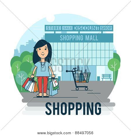 A woman makes a purchase.