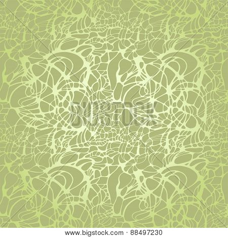 Seamless color spring sunny bionic net lattice green pattern